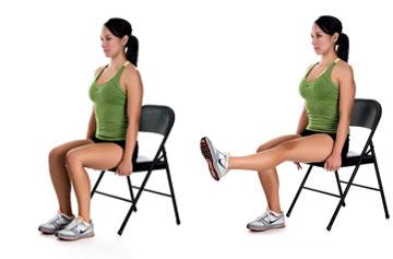 Isometric exercise med for Chaise quadriceps