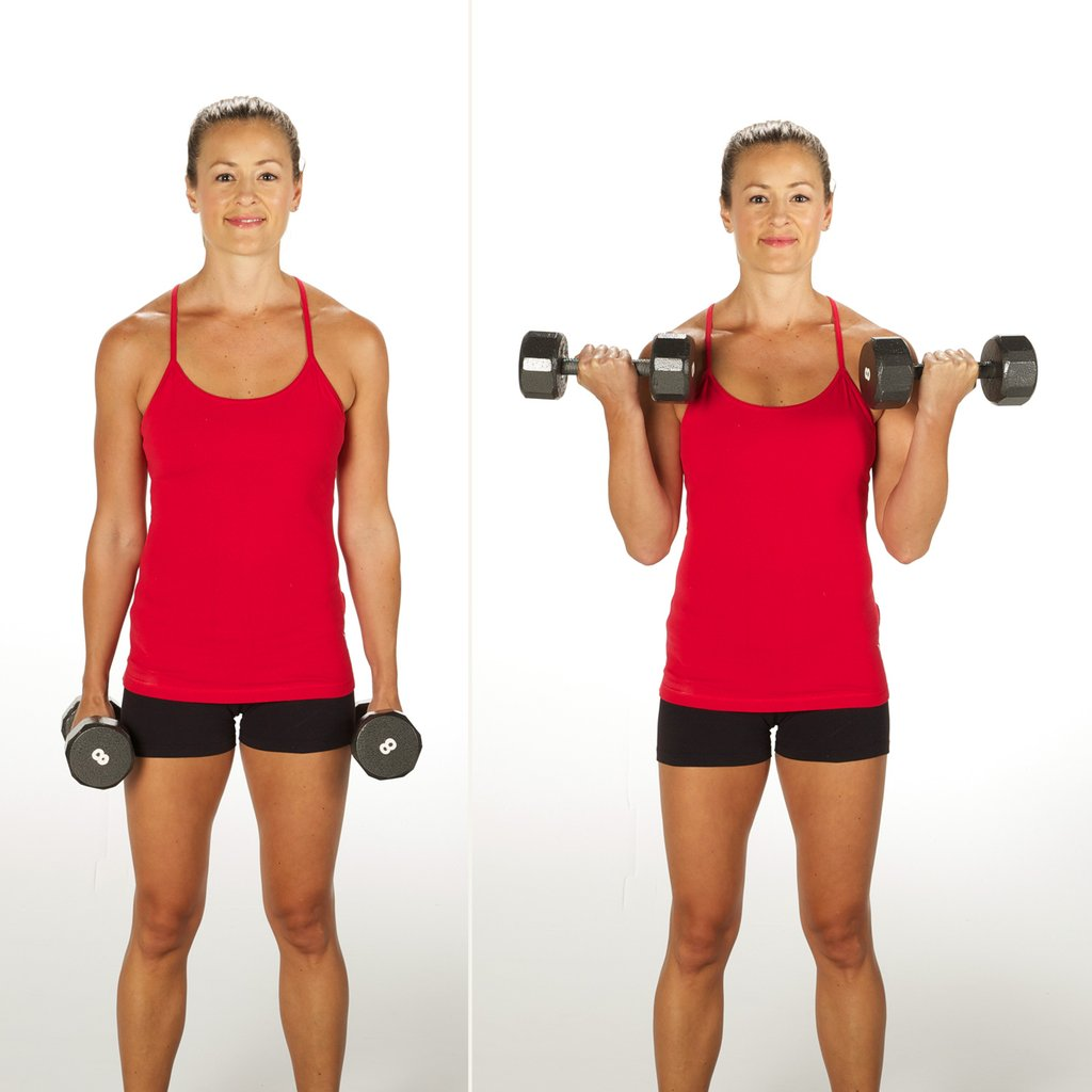 A tried and true exercise is the bicep curl. These will work your  brachioradialis muscles, brachialis and brachii. A pair of five-pound  dumbbells is all you ...